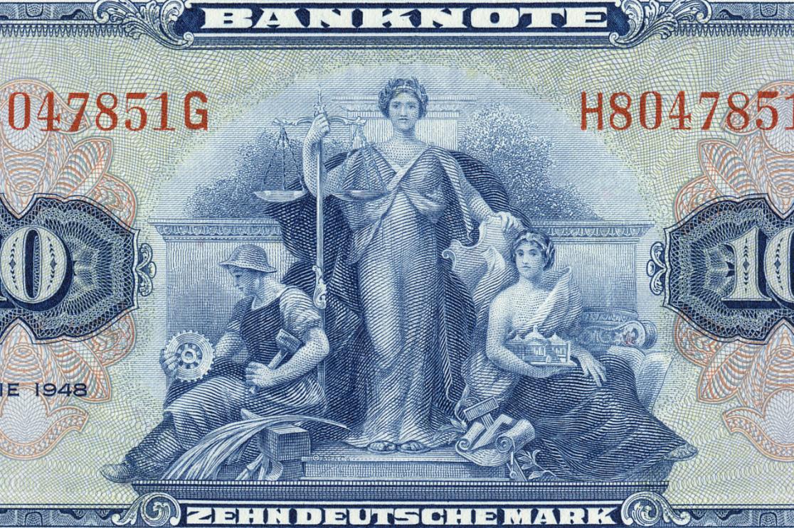 Banknote 10 Deutsche Mark von 1948