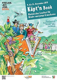 Plakat Rheinisches Lesefest Käpt´n Book 2019, (c) Rheinisches Lesefest Käptn Book