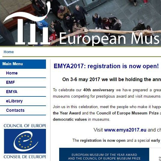 Screenshot of the European Museum Council website