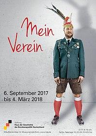"""Plakat zur Wechselausstellung """"Mein Verein"""" im Haus der Geschichte"""