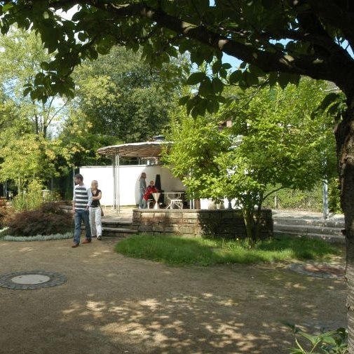 Blick in den Museumsgarten in Bonn
