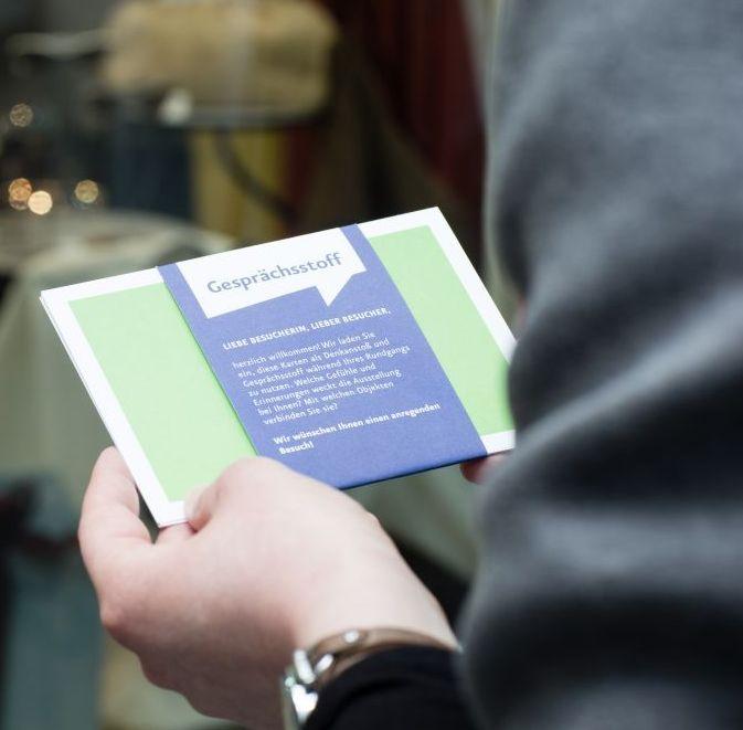 Die Gesprächsstoff-Karten zur Dauerausstellung