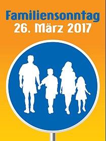 Plakat Familiensonntag