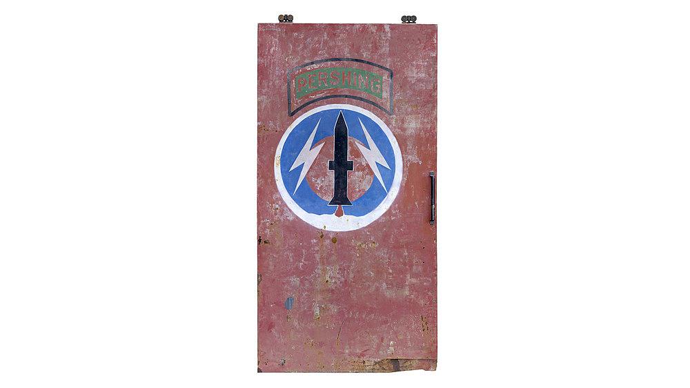 Door of the Pershing Depot in Mutlangen