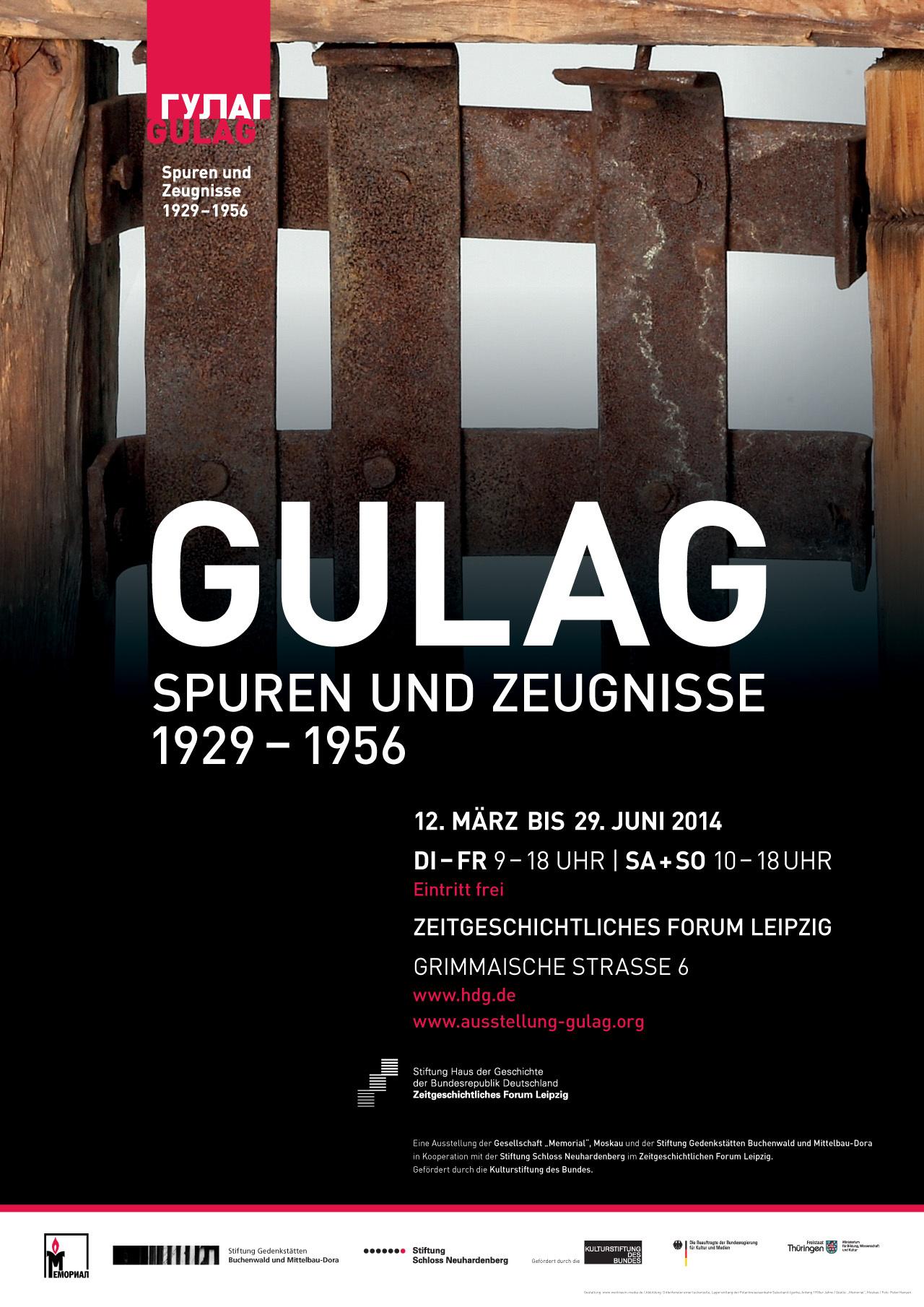 Ausstellungsplakat Gulag. Spuren und Zeugnisse 1929 - 1956