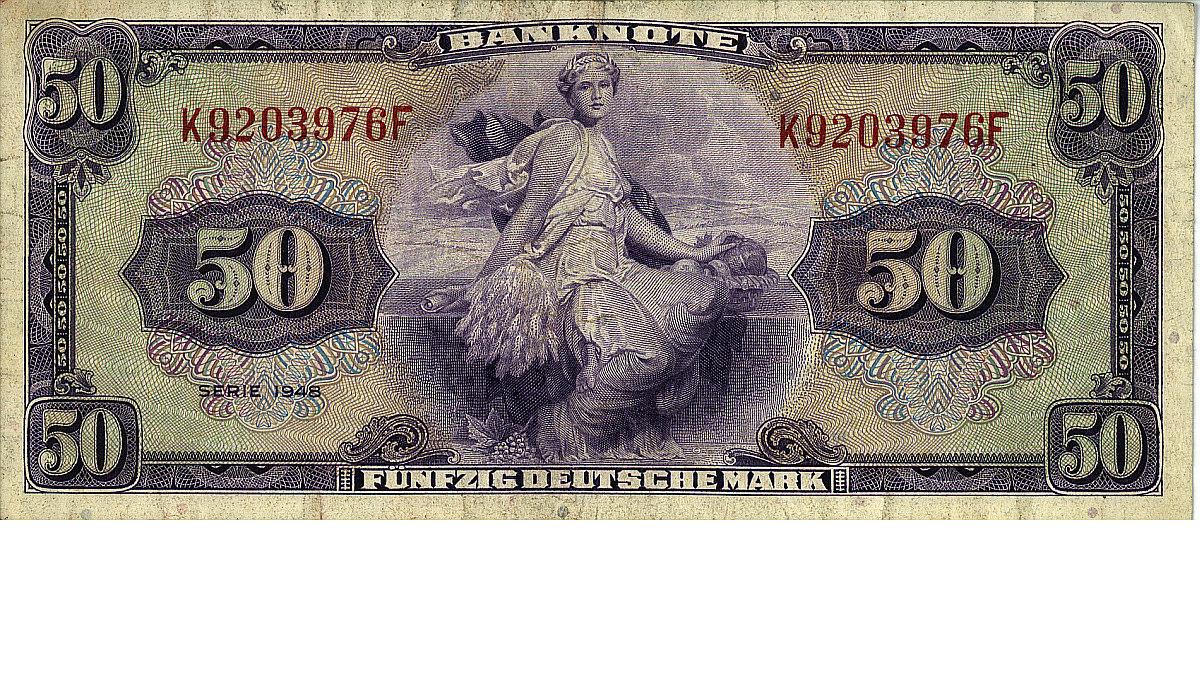 """Banknote '50 Deutsche Mark"""" von 1948"""