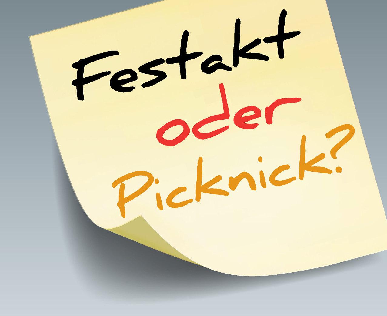 Ausstellungsplakat Festakt oder Picknick? Deutsche Gedenktage