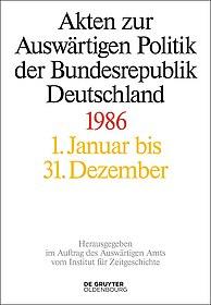 """Buchcover """"Akten zur Auswärtigen Politik der Bundesrepublik Deutschland 1986"""""""