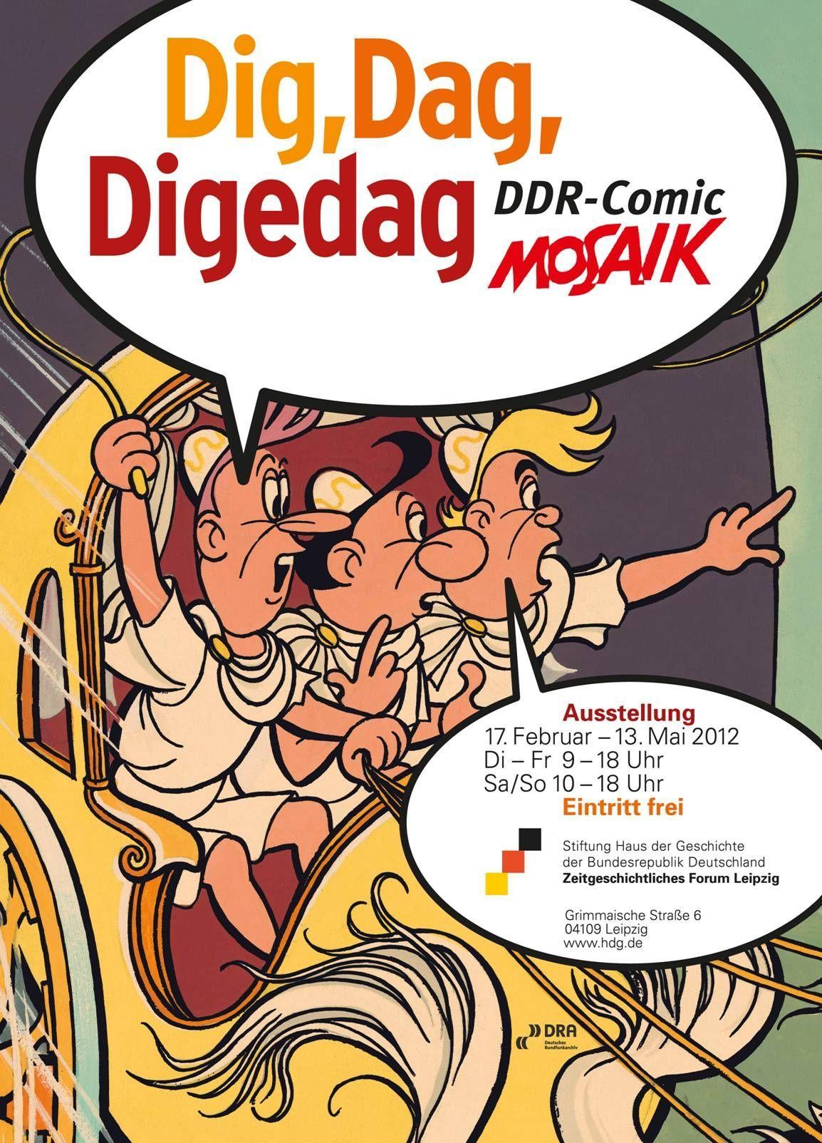 Ausstellungsplakat Dig, Dag, Digedag - DDR-Comic Mosaik