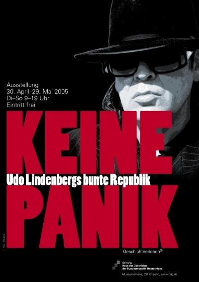Ausstellungsplakat Keine Panik. Udo Lindenbergs bunte Republik