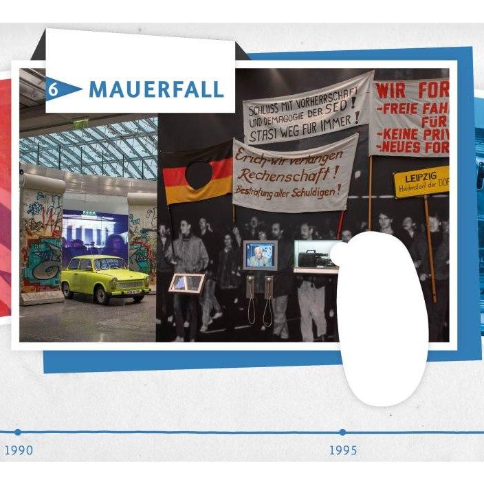 Die Karte 'Mauerfall' aus dem Kartenset der Familientour