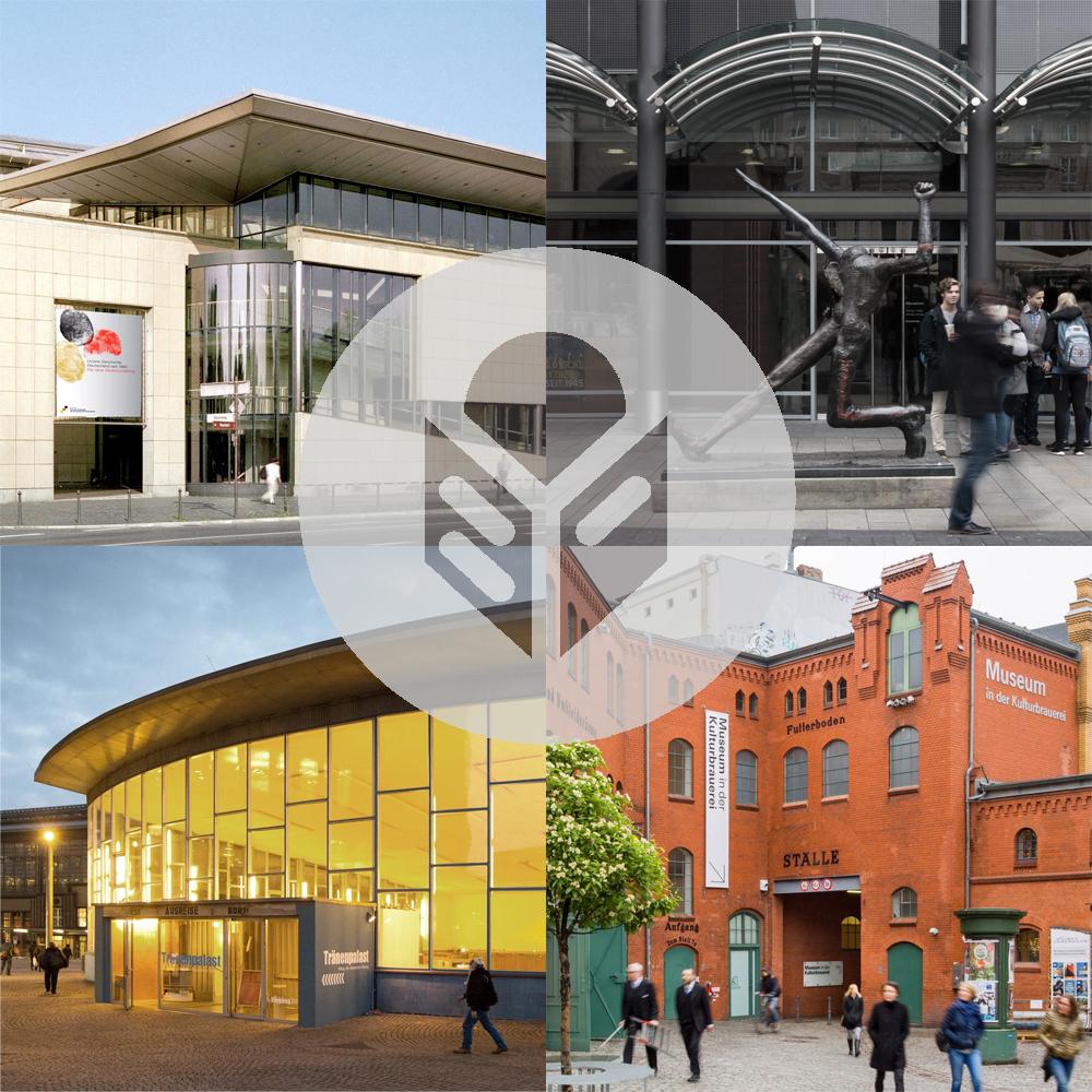 Außen-Ansicht von allen vier Museen