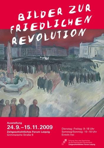 Ausstellungsplakat Bilder zur Friedlichen Revolution