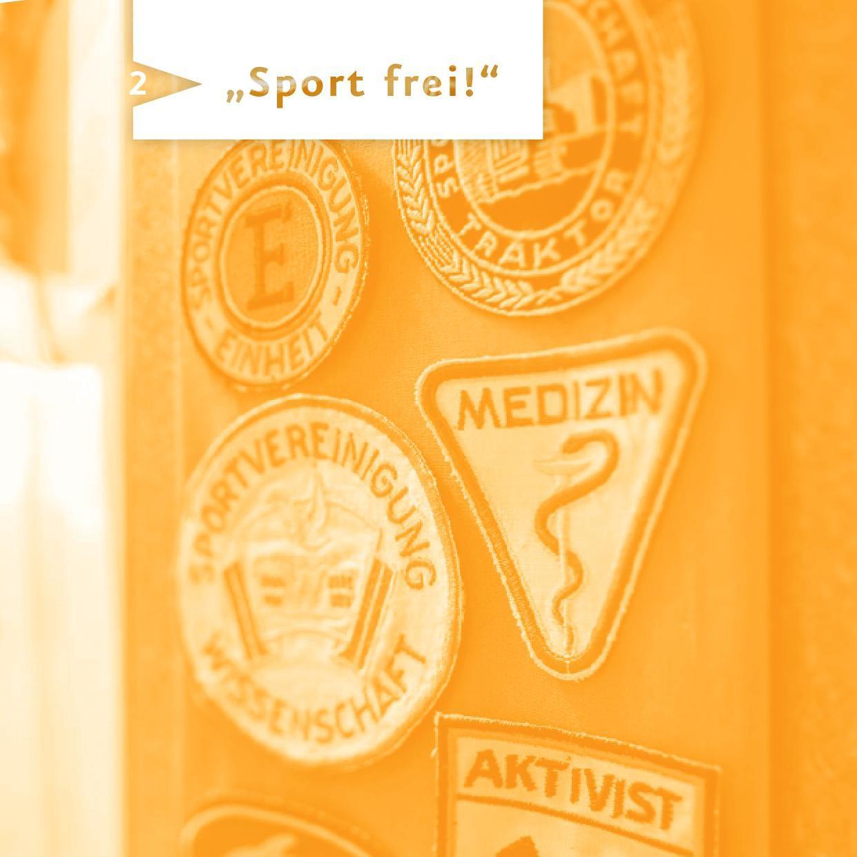 Seite 'Sport frei!' aus dem Spurensuche-Block