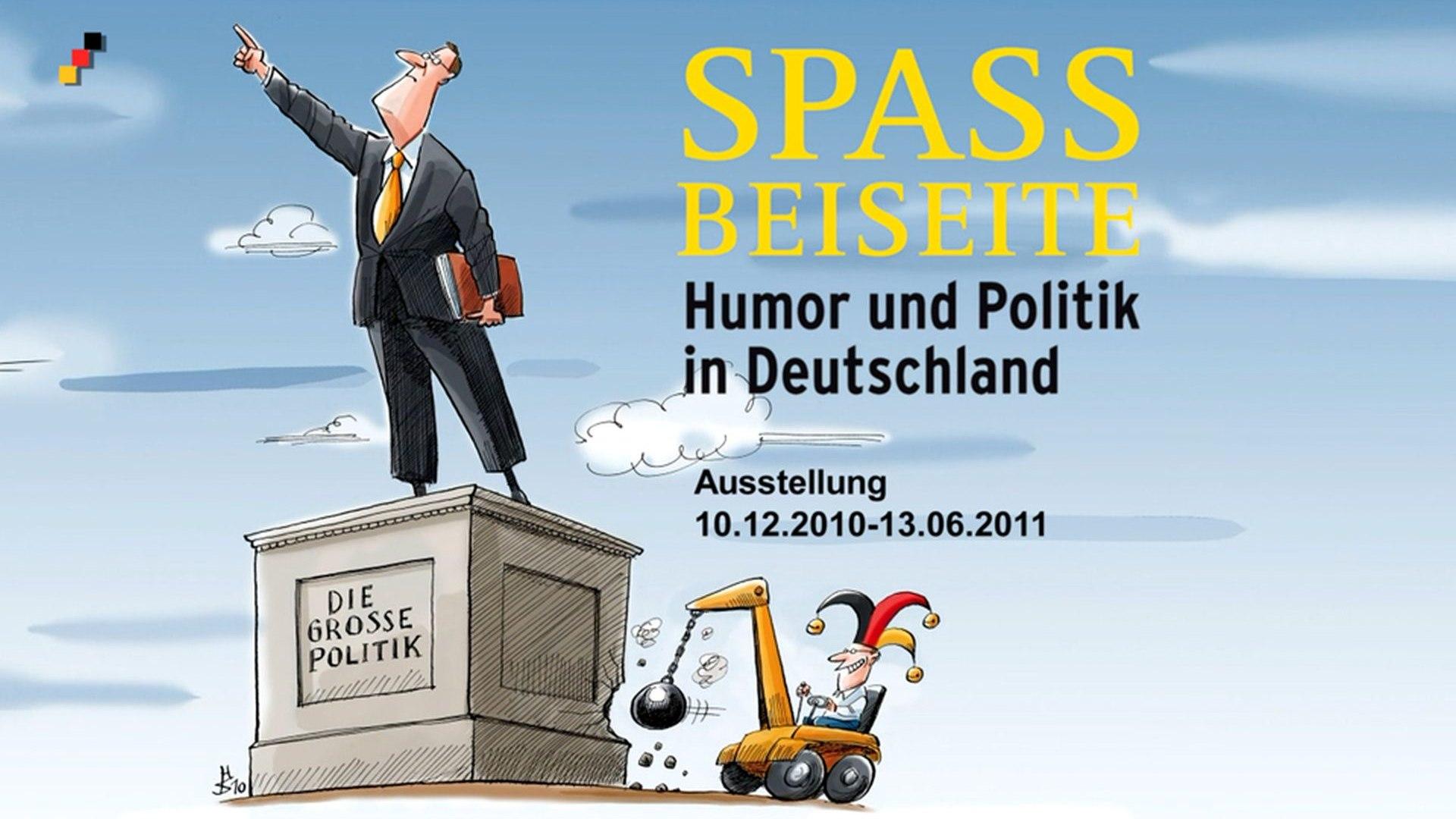 Ausstellungsplakat Spaß beiseite. Humor und Politik in Deutschland
