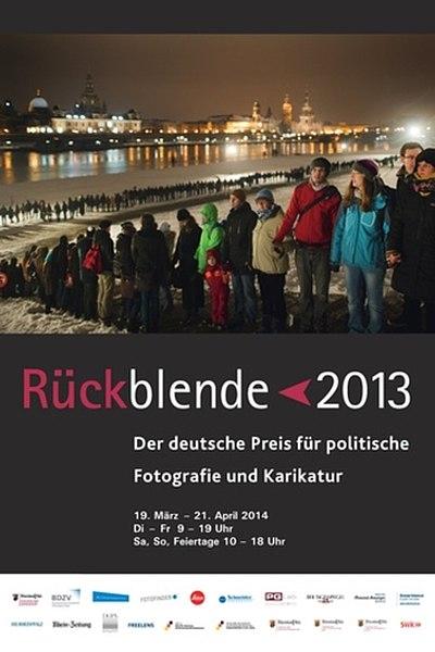 Ausstellungsplakat Rückblende 2013