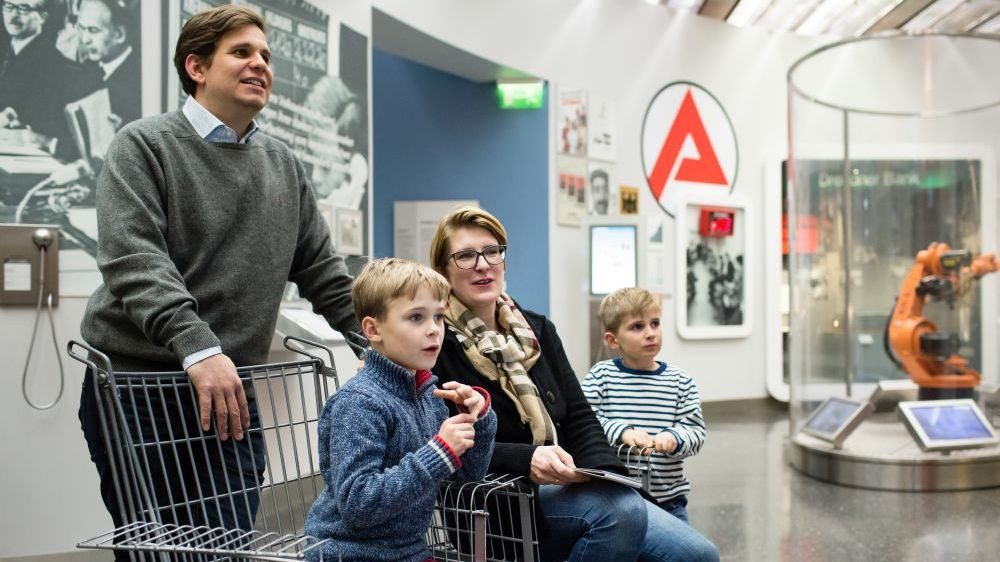 Kids and families are very welcome in our exhibitions