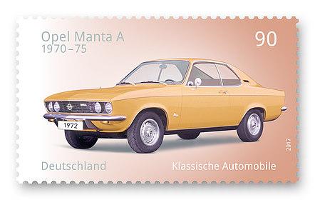 Foto Briefmarke Opel Manta A,  Thomas Serres, Serres Design