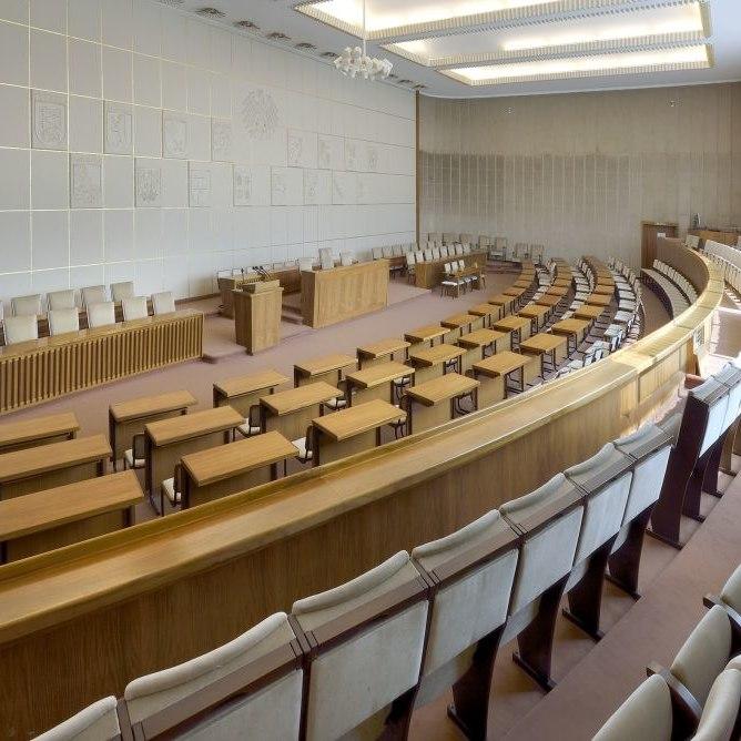 historical plenary chamber in the Bundesrat in Bonn