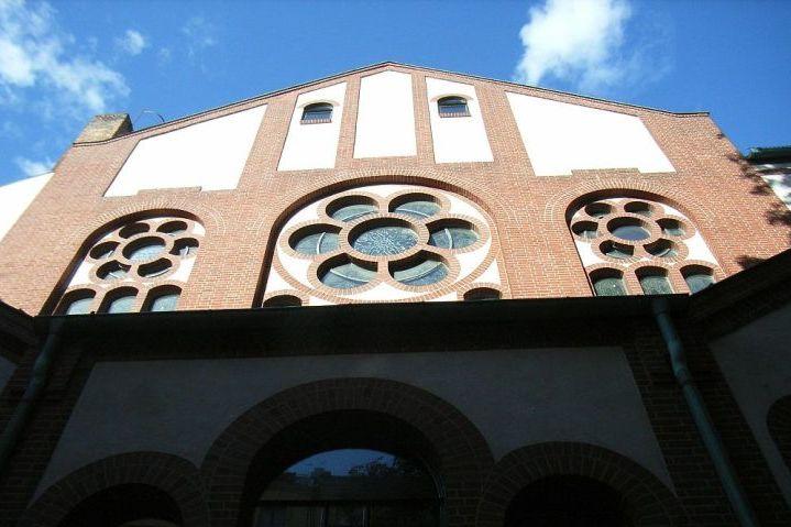 Foto Berlin Synagoge Rykestraße, Südseite