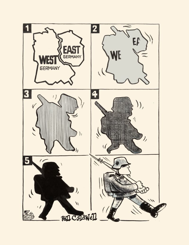 Karikatur 'Der Marsch des Vierten Reiches'