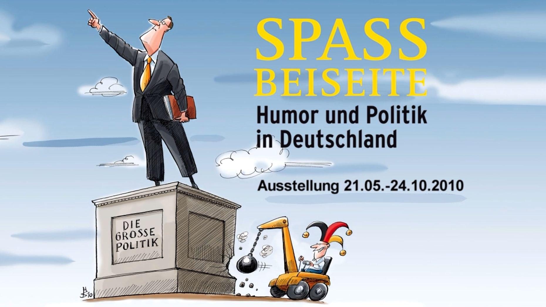 Plakat zur Ausstellung Wechselausstellung Spaß beiseite Humor und Politik im Zeitgeschichtlichen Forum Leipzig