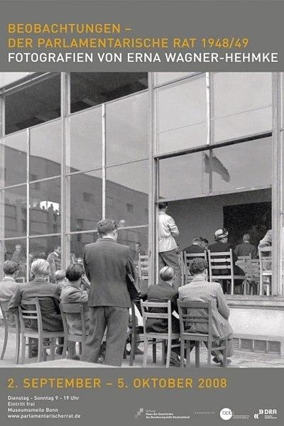 Ausstellungsplakat Beobachtungen - Der Parlamentarische Rat 1948/49