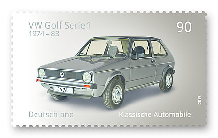 Briefmarke VW Golf Serie 1, Thomas Serres, Serres Design