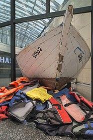 Flüchtlingsboot in der Dauerausstellung
