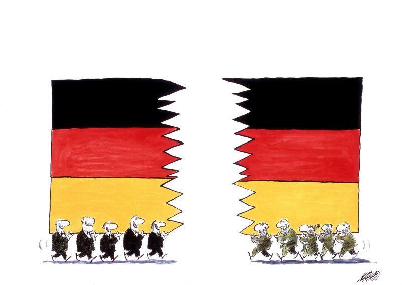 Karikatur 'Deutschland-Flagge'
