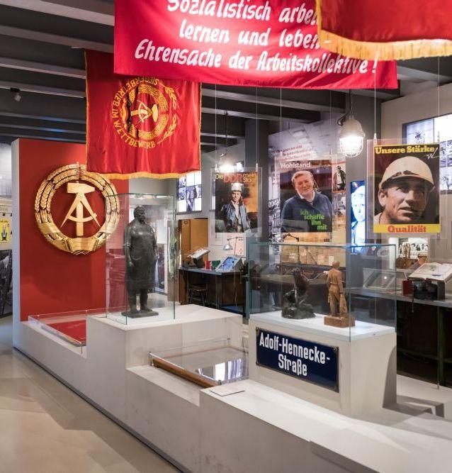 Blick in die Dauerausstellung in der Kulturbrauerei