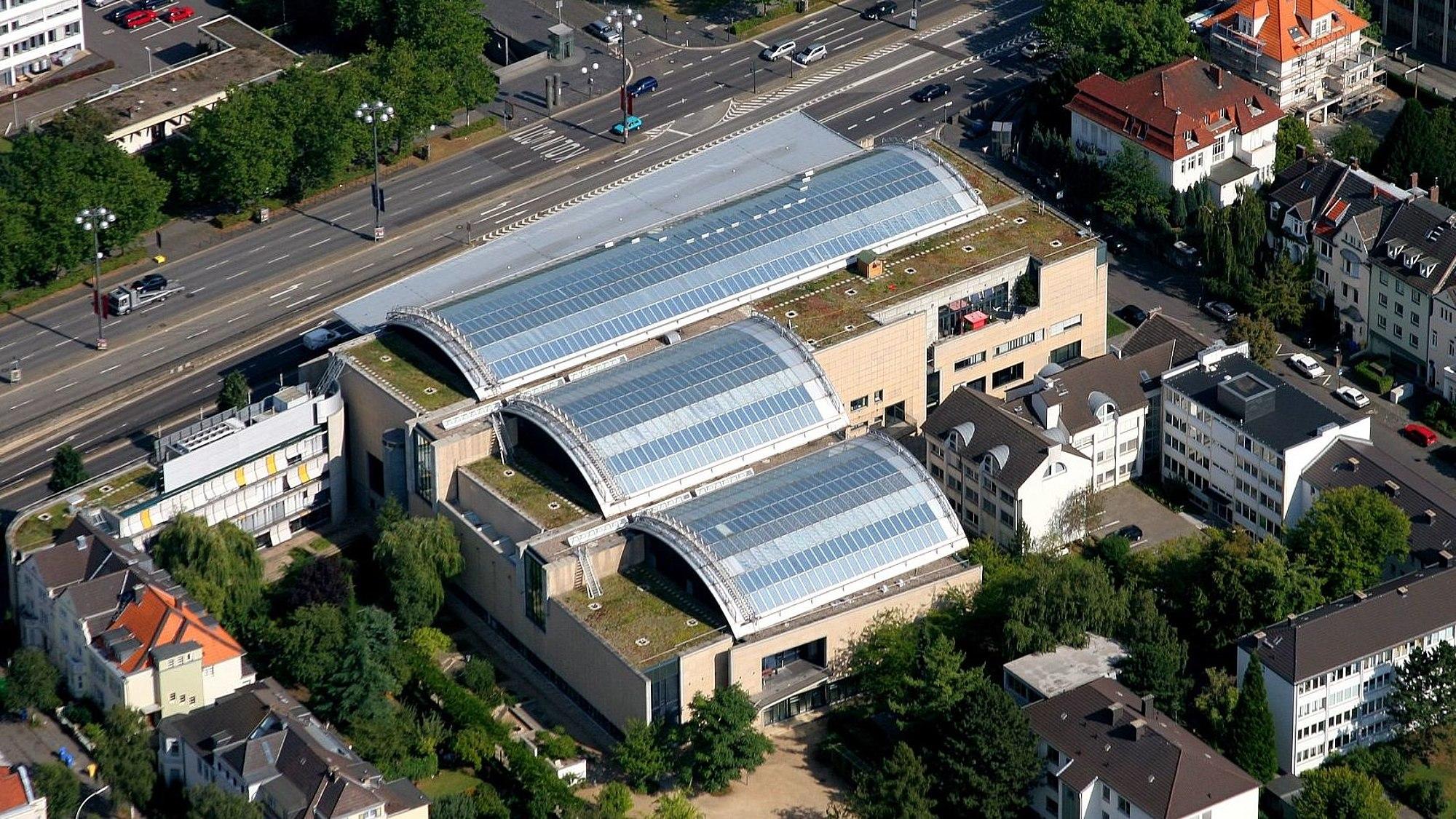 Aerial view of Haus der Geschichte in Bonn
