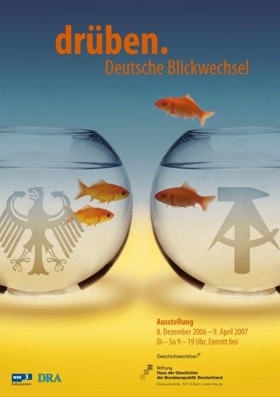 Ausstellungsplakat drüben. Deutsche Blickwechsel