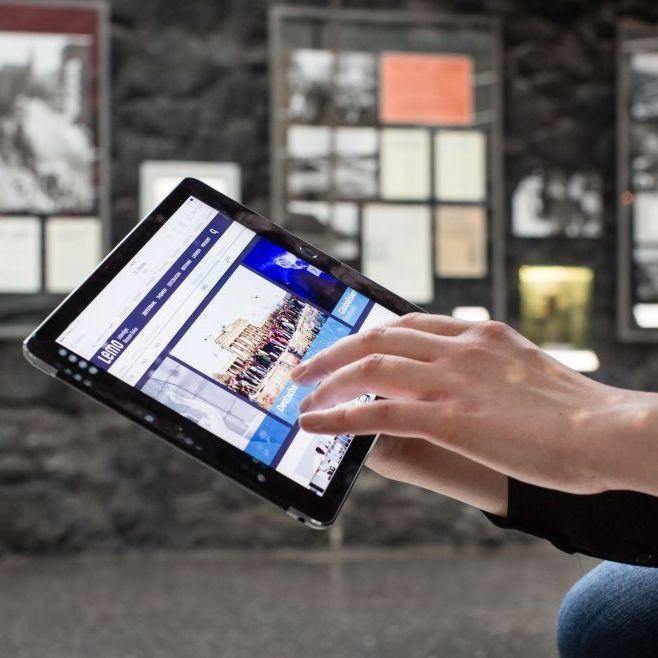 Tablet mit der LeMO-App