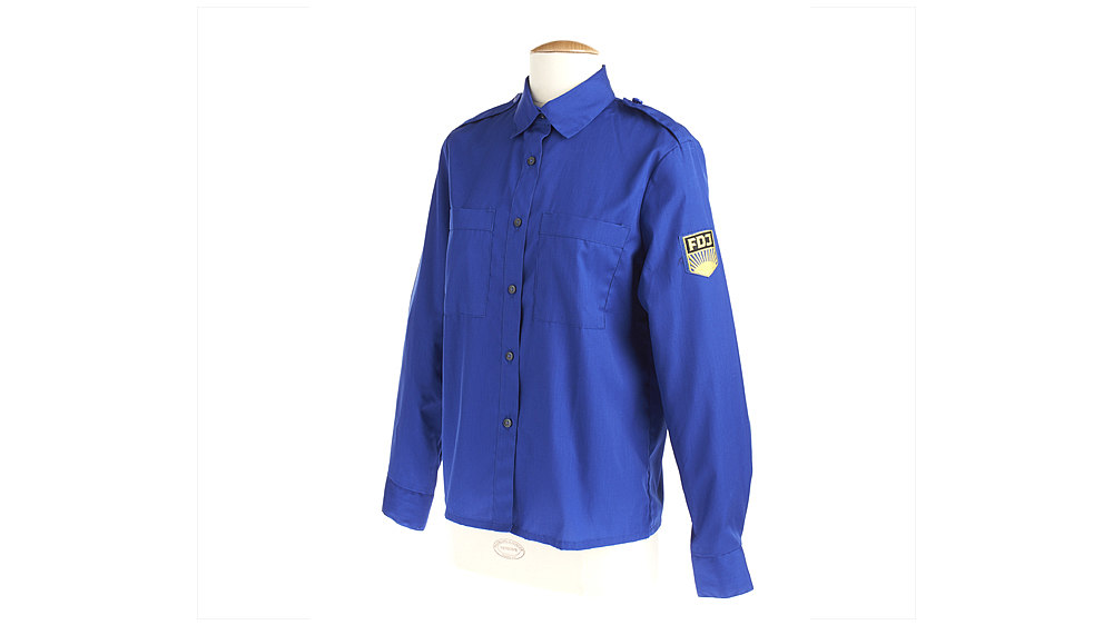 Free German Youth blouse, blue, 1949