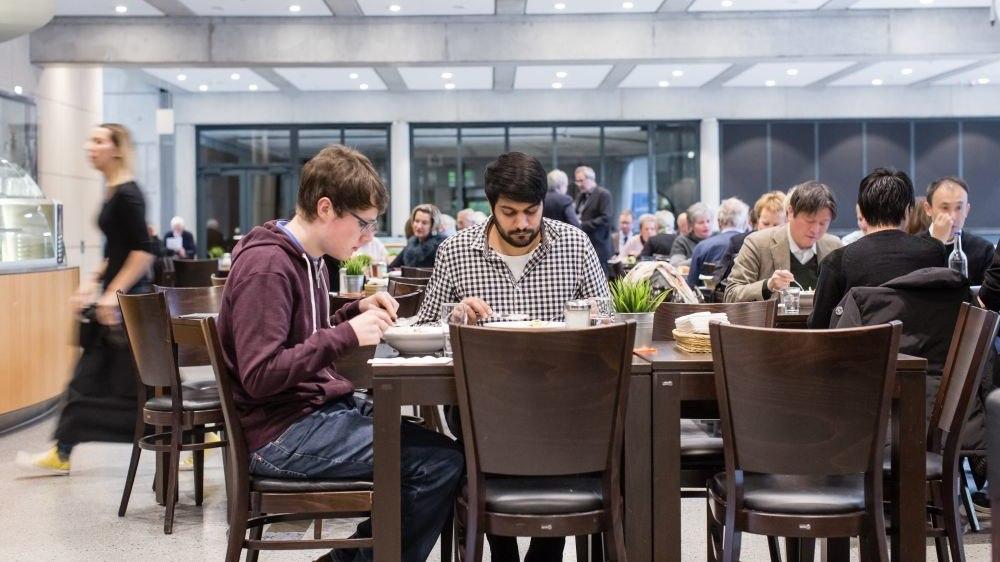Museum café at Haus der Geschichte in Bonn