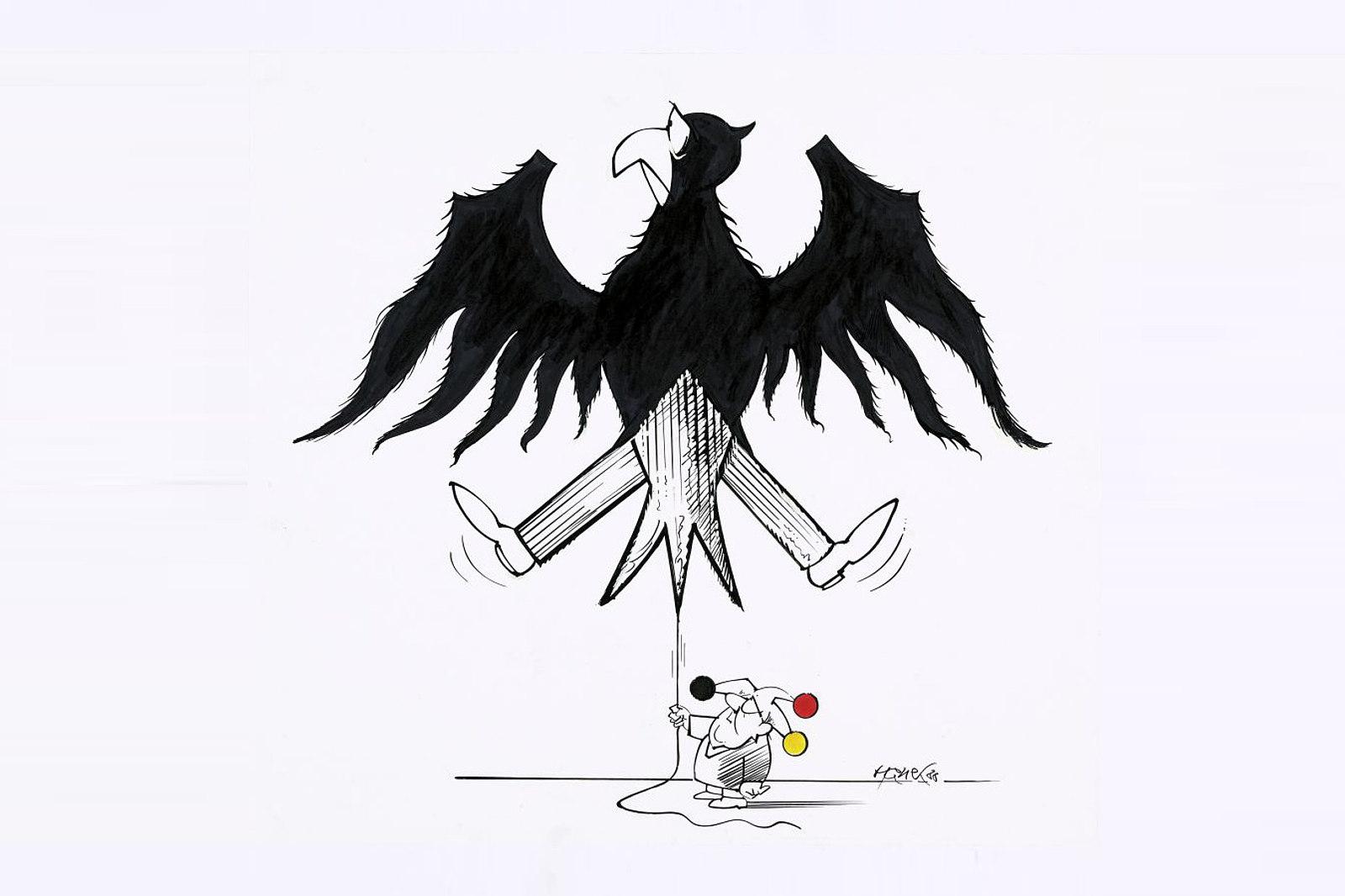 Karikatur mit Bundesadler