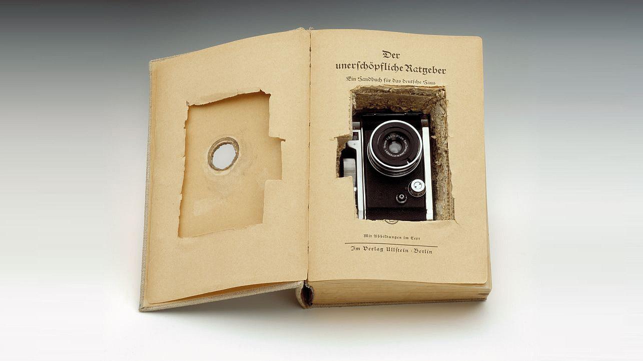 Fotoapparat Robot, der am 17. Juni 1953 als Geheimkamera benutzt wird