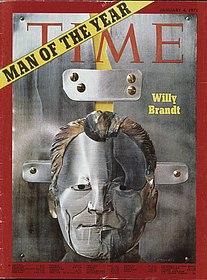 """Cover """"Time"""" vom 4.1.1971, (c) Axel Thünker, Stiftung Haus der Geschichte der Bundesrepublik Deutschland"""