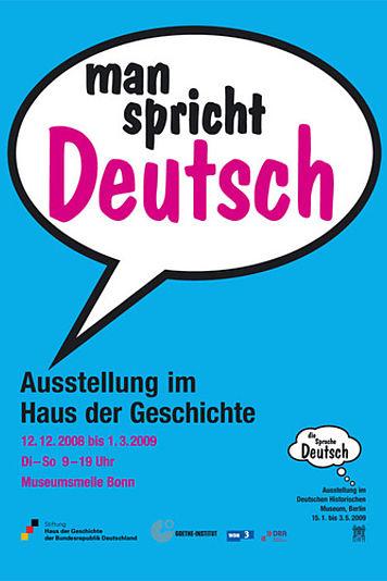 Ausstellungsplakat man spricht Deutsch