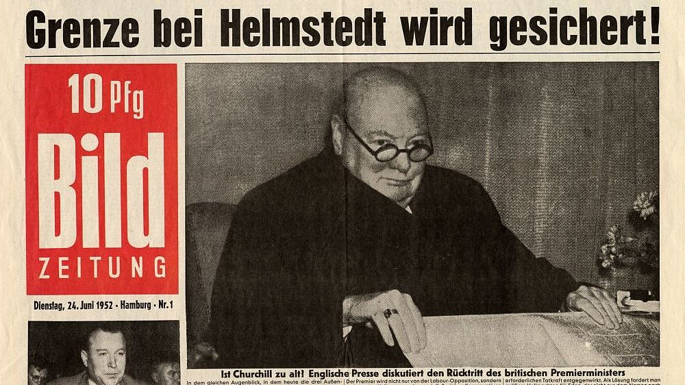 Cover of the first newspaper issue 'Bild', 1952