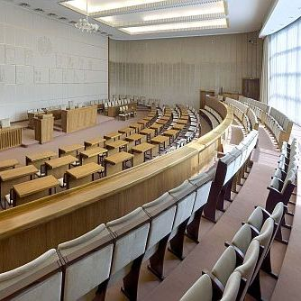 The chamber in the Bundesrat building in Bonn