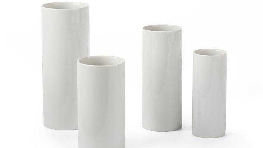 Household: white vase