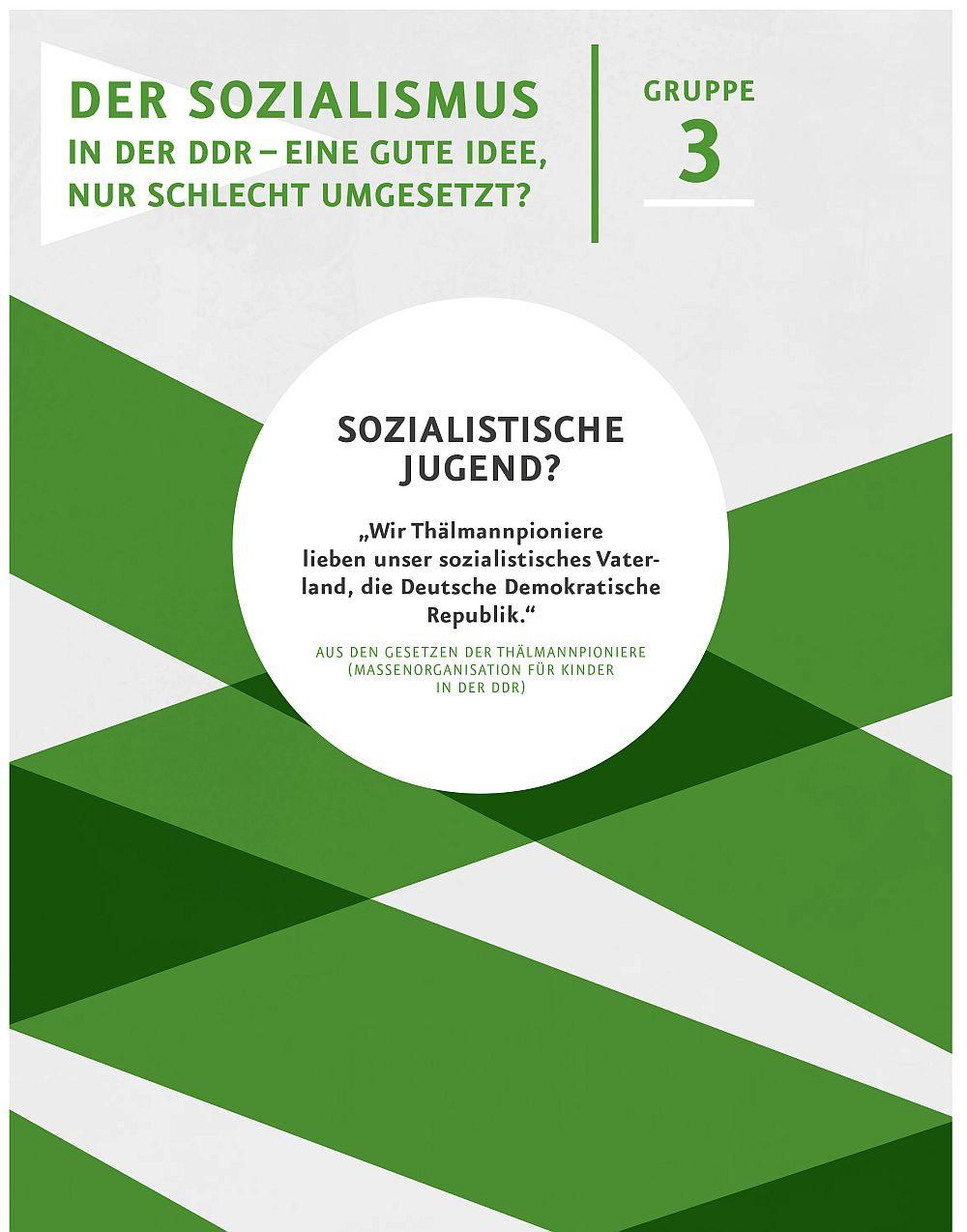 Seite der Materialmappe '40 Jahre DDR'