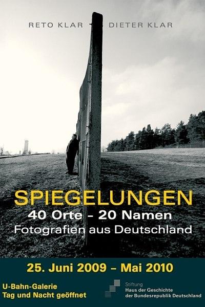 Ausstellungsplakat Spiegelungen. 40 Orte - 20 Namen
