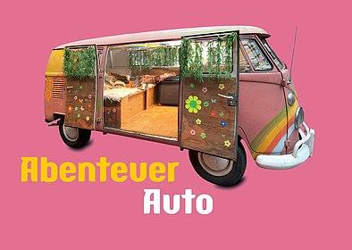 Postkarte Abenteuer Auto, Stiftung Haus der Geschichte der Bundesrepublik Deutschland