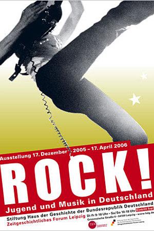 Ausstellungsplakat Rock! Jugend und Musik in Deutschland