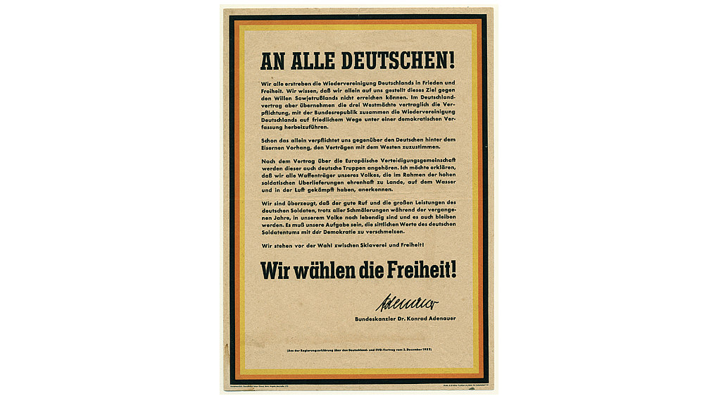 Flyer: intended German reunification, 1952