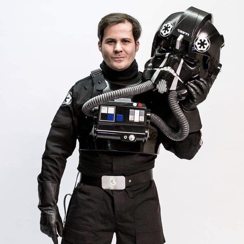 Stefan Mager als Tie Fighter Pilot der 501st