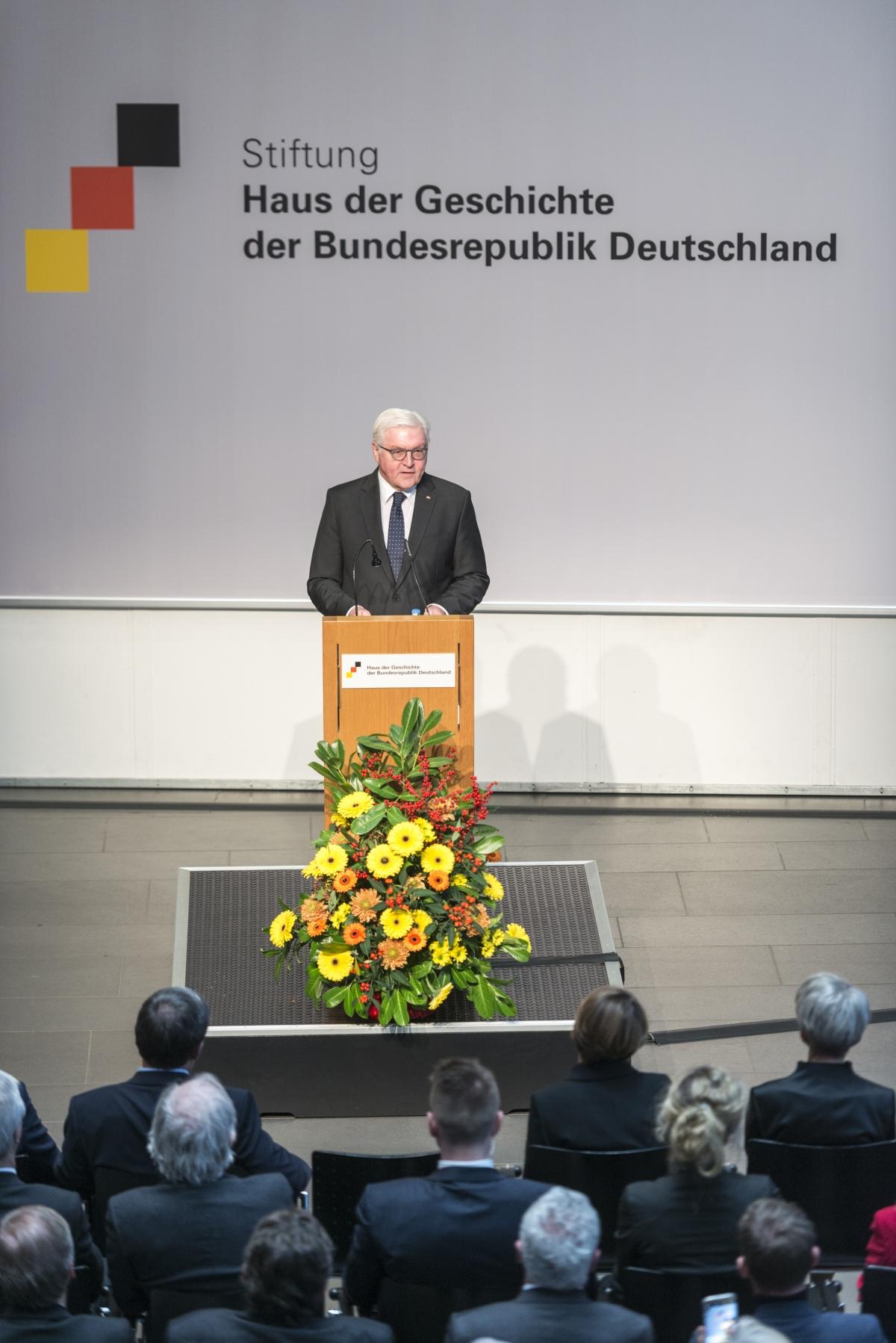 Bundespräsident Frank-Walter Steinmeier im Haus der Geschichte.